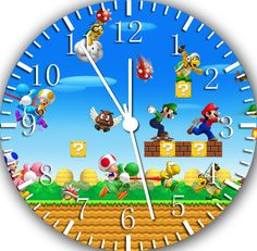 "New Super Mario wall Clock 10"" will be nice Gift and Room wall Decor W425"