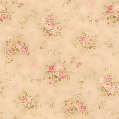 436-66405 - Carolina Pink Rose Bouquet wallpaper. For your Bath II wallpaper has the new prepasted technology that makes it easy to paste and remove with ease. Collection is Brewster. Size of each dou