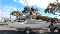 Rigging, Launching & Sailing a 21 foot trailer Yacht single handed - Nel...