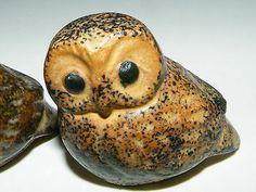 Beautiful Vintage Miniature Owl Family Pottery Figurines Lot of 5 Napco Japan | eBay