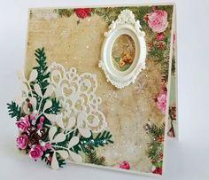 Christmas Card, Holiday Card, Greeting Card, Seasonal Card, Shabby Card, Romantic Card, Retro Card, 3D Card