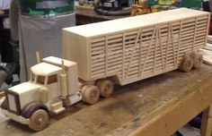 Stock Truck Eighteen Wheeler by grandpacharlieswkshp on Etsy
