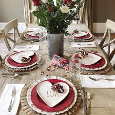 Pretty valentine tablescape