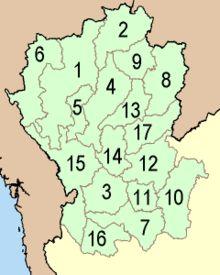 Nordthailand – Wikipedia Chiang Maiเชียงใหม่1 Chiang Raiเชียงราย2 Lampangลำปาง4 Lamphunลำพูน5 Mae Hong Sonแม่ฮองสอน6 Nanน่าน8 Phayaoพะเยา9 Phraeแพร่13 Uttaraditอุตรดิตถ์17 Kamphaeng Phetกำแพงเพชร3 Nakhon Sawanนครสวรรค์7 Phetchabunเพชรบูรณ์10 Phichitพิจิตร11 Phitsanulokพิษณุโลก12 Sukhothaiสุโขท้ย14 Takตาก15 Uthai Thaniอุทัยธานี16