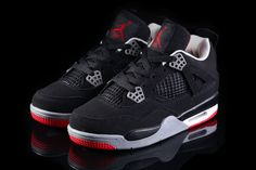 Big Kids Jordan Shoes Kids Air Jordan 4 CDP Promo Shoes [Kids Air Jordan 4 - The black nubuck upper and sparse use of red on the sole and lining makes for a sure-fire classic and in all honesty seeing the model makes us really anticipate the Kids Air Jordan Shoes For Kids, Jordan 4, Cheap Jordans, Kids Jordans, Cheap Shoes, Kid Shoes, Big Kids, Kicks, Sneakers Nike