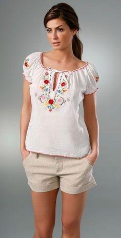 Embroidered peasant top #embroidered #peasant #blouse: