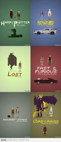 Movie Pixel Posters