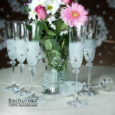Romantické skleničky / Zboží prodejce ArtBach | Fler.cz Flute, Champagne, Tableware, Dinnerware, Tablewares, Flutes, Dishes, Tin Whistle, Place Settings