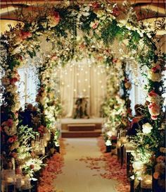 Stunning wedding decor dream wedding pinterest arch wedding 9 most creative attractive and amazing indoor wedding decoration ideas that will certainly wow you junglespirit Image collections