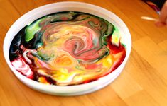 Magic milk painting! Pour a dish of milk (whole milk is apparently the best!) and add a few drops of food coloring. Then dip a toothpick in dish soap and disrupt the surface tension to create beautiful designs!