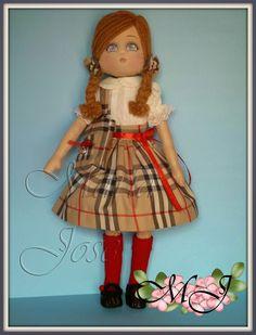 Soleritas Muñecas Artesanales: Eva, muñeca de tela