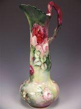 Stunning Antique Porcelain Art Nouveau Vienna Austria RARE MOLDING Romantic Ewer…