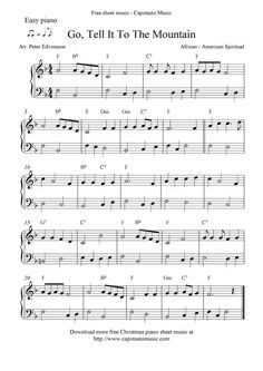Free Printable Piano Sheet Music | Free Sheet Music Scores: Easy free Christmas piano sheet music notes ...