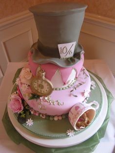 Mad Hatters Tea Party cake for an Alice in Wonderland theme