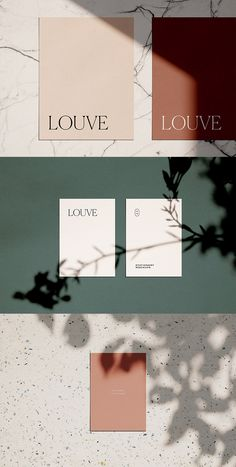 Louve Mockup Kit is a photo-based scene creator featuring natural sunlight and botanical shadows – ideal for creating photorealistic stationery mockups with a casual, authentic vibe. Packaging Inspiration, Inspiration Logo Design, Graphisches Design, Layout Design, Print Design, Design Color, Texture Design, Media Design, Graphic Design Branding