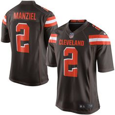 Men's Nike Johnny Manziel Brown Cleveland Browns Game Jersey