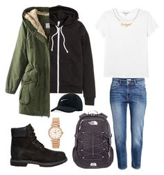 """Untitled #217"" by kingrabia on Polyvore featuring H&M, Monki, The North Face, Timberland, NIKE and Tommy Hilfiger"