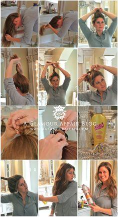Wavy summer hair tutorial- Someday, my hair will grow :p