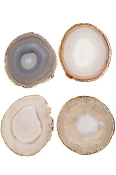 Agate coasters. used as escort cards with gold calligraphy