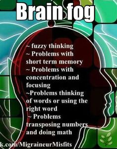 Brain fog......this has become a major problem for me. #migrainefacts