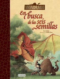 #guiadeveranoAB En busca de las seis semillas / Ana Galán (Mondragó) Cale cumple once años y por fin va a tener su propio dragón. Pero Mondrágo no es un dragón como los de sus amigos: no puede volar, se tropieza sin parar , estornuda bolas de fuego, se cuela en el castillo del alcalde... ¡y se lleva un libro muy especial, Rídel! Rídel revela a Cale y a sus amigos un secreto espeluznante...