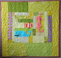 Baby Sea Animals - A Finished Quilt