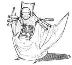 Cloaked Figure Sketch//journey