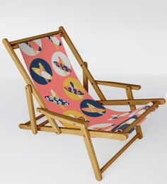 Surfer Girl Pattern Coral by Sandra Hutter Outdoor Chairs, Outdoor Furniture, Outdoor Decor, Folding Stool, Coral Pink, Recliner, Sun Lounger, Summer Fun, Hammock