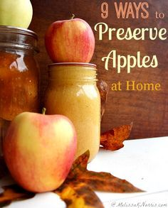 Preserve apples at home! I use some of these recipes