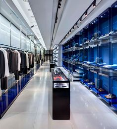 Dior Homme flagship New York retail store, showcasing the brand's distinct architectural aesthetic _