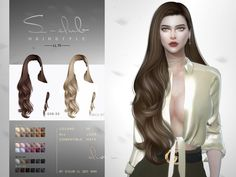 Sims 4 Curly Hair, Long Curly Hair, Sims 4 Mods Clothes, Sims 4 Clothing, Maxis, Club Hairstyles, Female Hairstyles, Sims Challenge, Sims 4 Cas Mods