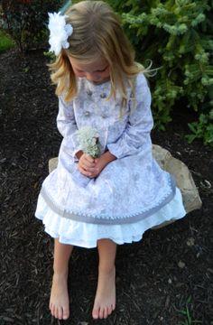 Gray Vintage Inspired Dress with Slip Dress