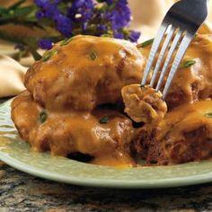Salisbury Steak in a Crockpot recipe - cook patties in a pan first before putting in crock pot