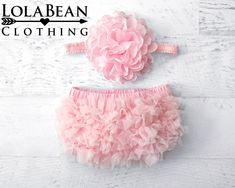 2pcs Newborn Baby Girls Chiffon Bloomer /& Headband Set Newborn Photo Prop Baby Girl Cake Smash Outfit Mint /& Peach /& Pink 6-24 Months, Mint /& Peach
