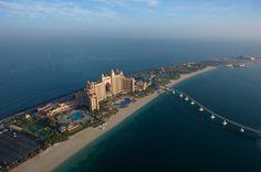 Atlantis, The Palm in Dubai from the air