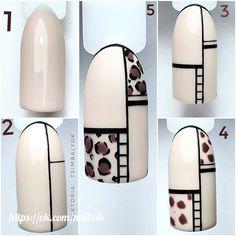 Nail Art Hacks, Gel Nail Art, Nail Manicure, Diy Nails, Simple Nail Designs, Nail Art Designs, Sculpted Gel Nails, Nailart, Leopard Print Nails
