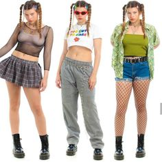 Edgy Outfits, Simple Outfits, Summer Outfits, Girl Outfits, Cute Outfits, Fashion Outfits, Deco Retro, 2000s Fashion, Fashion Poses