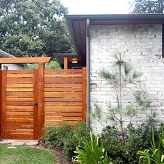 Fence Gate Design Ideas, Pictures, Remodel and Decor Wooden Fence Gate, Fence Gate Design, Modern Fence Design, Garden Gates And Fencing, Timber Gates, Seattle Homes, Building A Fence, Outside Living, Outdoor Living