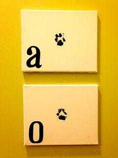 paw print with monogram