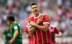 Download imagens 4k, Robert Lewandowski, meta, O Bayern De Munique, Bundesliga, futebol, jogadores de futebol