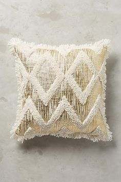 Foil & Fringe Pillow - anthropologie.com