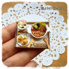 Miniature dinner tray, Instagram photo by @smile_pindot