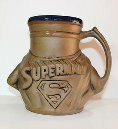RARE Superman Pottery Mug California Originals DC Comics USA Rumph 1978 | eBay