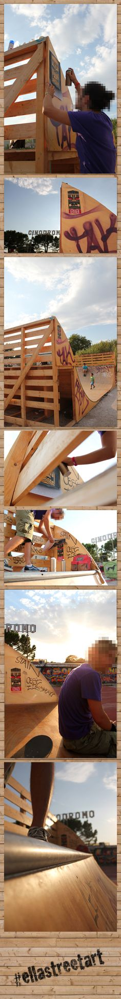 Tiki at Half-pipe of Cinodorme in Rome by Ella , via Behance