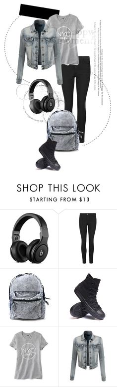 """""""NYC"""" by supergeek03 on Polyvore featuring Converse, Old Navy, LE3NO and denim"""