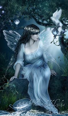 pictures of faries | ljilja romanovic magic light digital photoshop original art painting ...