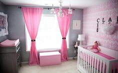 color ideas for girls room... wallpaper instead of paint?