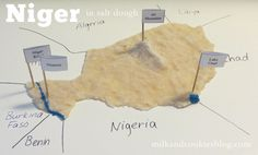 The Geography of Niger with salt dough