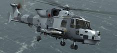 Wildcat helicopter with FAGHW(H) and FASGW(L) Missiles