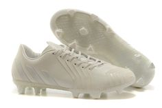 Adidas FG Soccer Cleats 2015 Predator Instinct all white www.soccercp.org  Predator Football 3a30f58703688